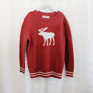 Abercrombie Kids Red Moose Sweater Size 7/8